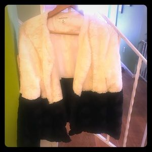 Faux fur black and white